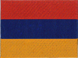 Armenia Flag Embroidered Patch