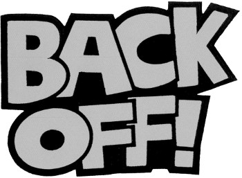 "Back Off (REFLECTIVE) 8"" Patch"