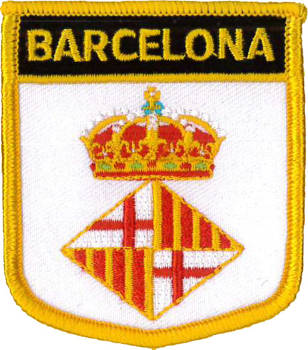 Barcelona City Shield Embroidered Patch