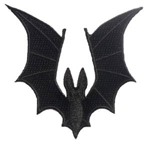 Bat Wings Patch 8cm x  8.5cm