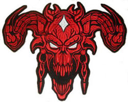 Devil (Red) Back Embroidered Patch