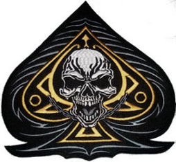 Ace of Spades with Skull Back Patch