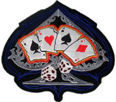 Ace of Spades with Cards and Dice Back Patch