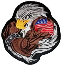 Eagle Embroidered (round) Back Patch