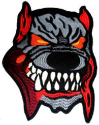 Dog Embroidered Back Patch
