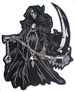 Reaper Back Patch 29cm x 30cm
