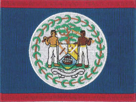 Belize Flag Embroidered Patch