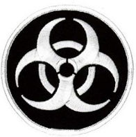Biohazard Circle (Black & White) Patch 9CM