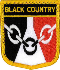 Black Country Flag Embroidered Patch