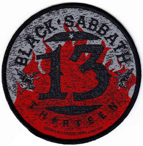 Black Sabbath 13 Flames Circular Patch