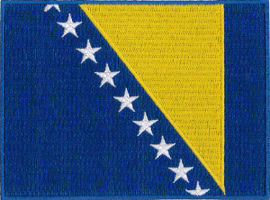 Bosnia Herzegovnia Flag Embroidered Patch