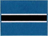 Botswana Flag Embroidered Patch