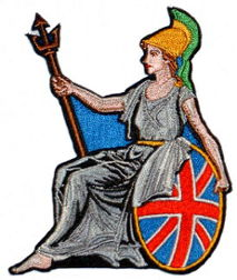 Britannia Embroidered Patch
