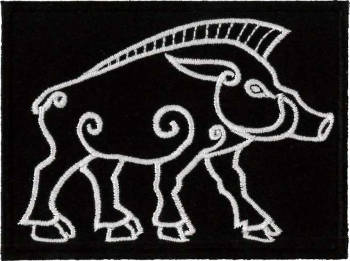 Celtic Boar Embroidered Patch
