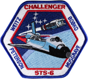 Challenger STS-6 Embroidered Patch 11.5cm x 10.5cm