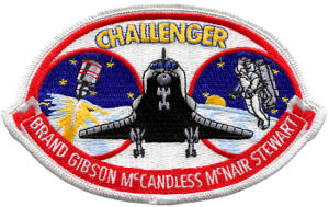 Challenger STS-41B Embroidered Patch