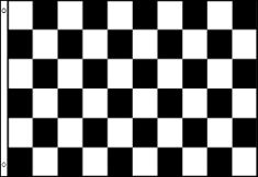 Checkered Black and White - Large Flag