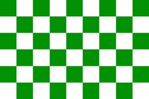 Checkered Flag Green & White