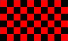 Checkered Flag Red and Black