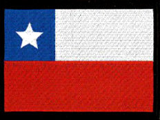 Chile Flag Embroidered Patch