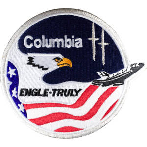 Columbia 2 Embroidered Patch 11cm x 10cm approx
