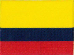 Columbia Flag Embroidered Patch