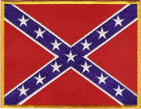 Confederate (Rebel) Embroidered Patch