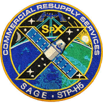 CRS SpaceX 10 Embroidered Patch 10cm Dia