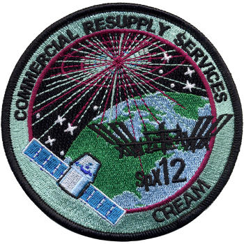CRS SpaceX 12 Embroidered Patch