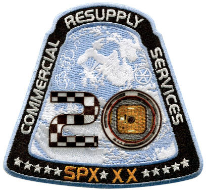 CRS SpaceX 20 Embroidered Patch