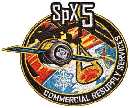 CRS Spacex 5 Embroidered Patch 12cm x 10cm