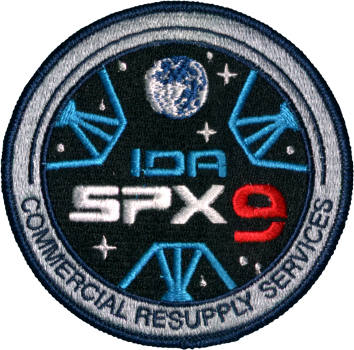 CRS SpaceX 9 Embroidered Patch