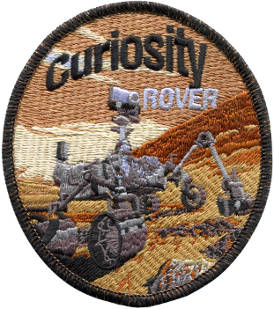 Curiosity Rover Embroidered Patch