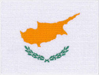 Cyprus Flag Embroidered Patch