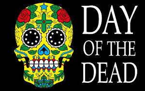 Day of the Dead (Sugar Skull) Flag