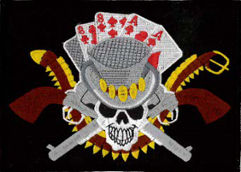 Dead Mans Hand Embroidered Patch