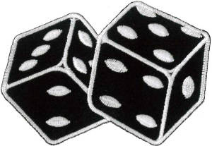 Dice (Black) Embroidered Patch