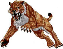 Dinosaur Sabre Tooth Tiger Embroidered Patch
