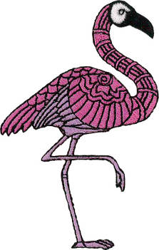 Flamingo Embroidered Patch
