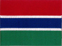 Gambia Flag Embroidered Patch