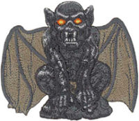 Gargoyle Embroidered Patch