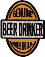 Genuine Beer Drinker Embroidered Patch