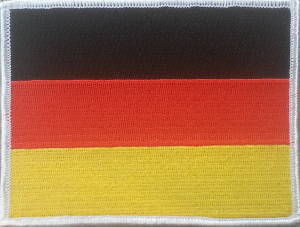 German Flag Embroidered Patch 12cm x 9m