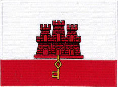 Gibraltar Flag Embroidered Patch