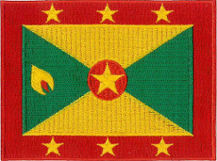 Grenada Flag Embroidered Patch