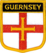 Guernsey Flag Embroidered Patch