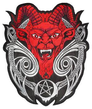 Horned Devil Back Embroidered Patch