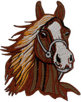 Horse - (Brown) Embroidered Patch