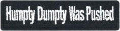 Humpty Dumpty Embroidered Patch