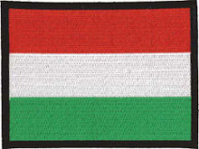Hungary Flag Embroidered Patch